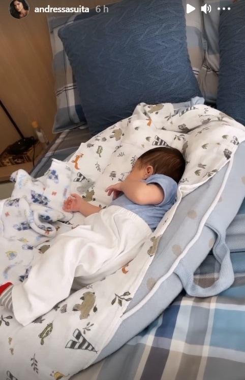 O pequeno Matheus, sobrinho de Andressa Suita