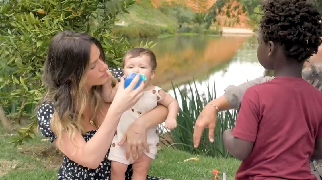 Giovanna Ewbank e os filhos com Bruno Gagliasso