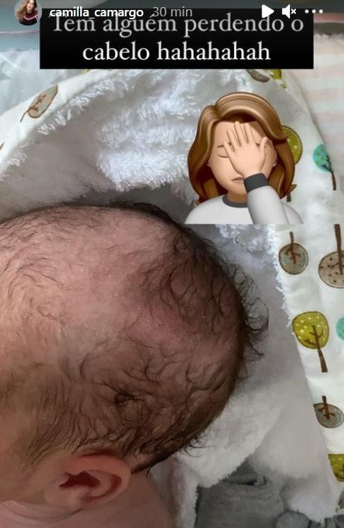 A bebê Julia, filha da atriz Camilla Camargo