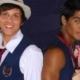 Chay Suede e Micael Borges posaram com os filhos