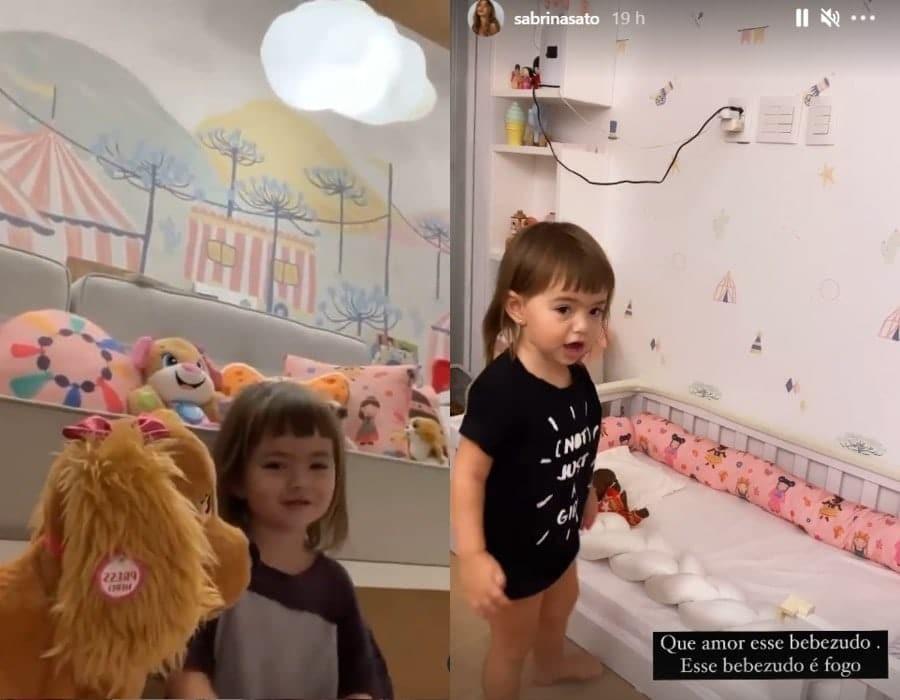 Duda Nagle mostrou a filha em quarto que foi reformado