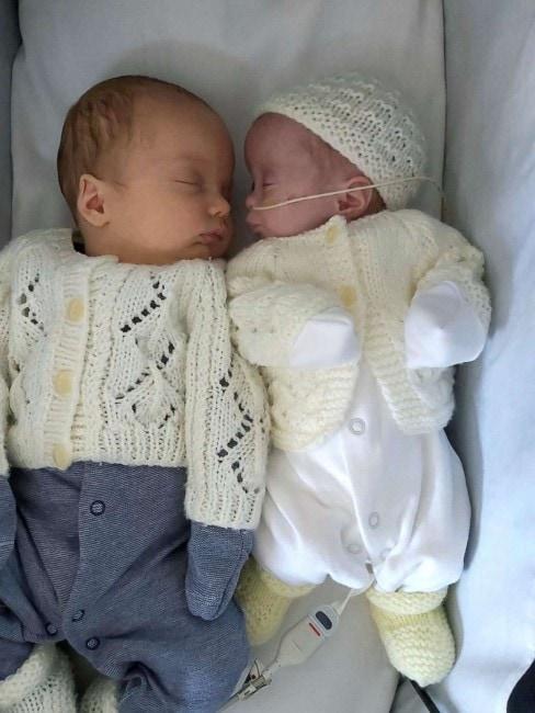 A mãe dos gêmeos fez tratamento para engravidar
