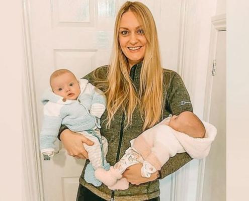 Um ultrassom na 12ª semana de gestação mostrou que os bebês eram gêmeos
