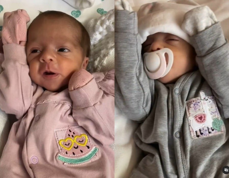 Filhas gêmeas de Joaquim Lopes