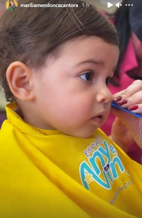 O menino Léo, filho de Marília Mendonça