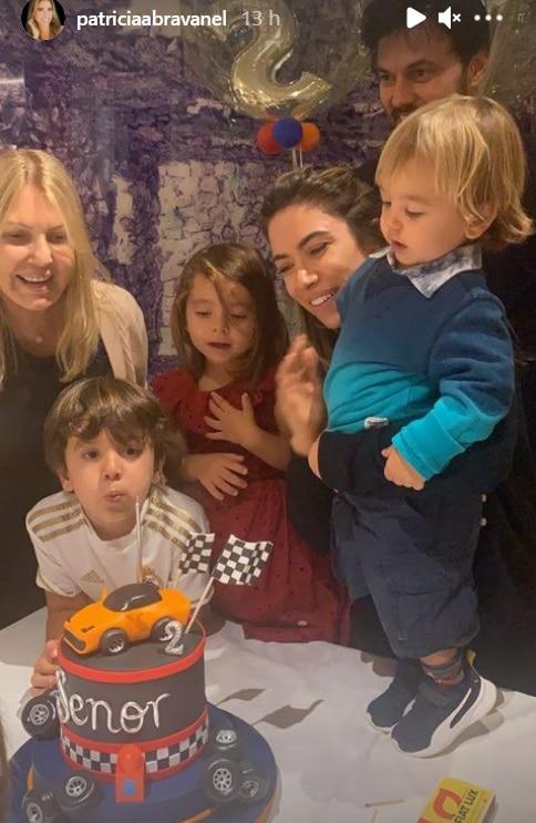 Patrícia Abravanel na festa de aniversário do filho