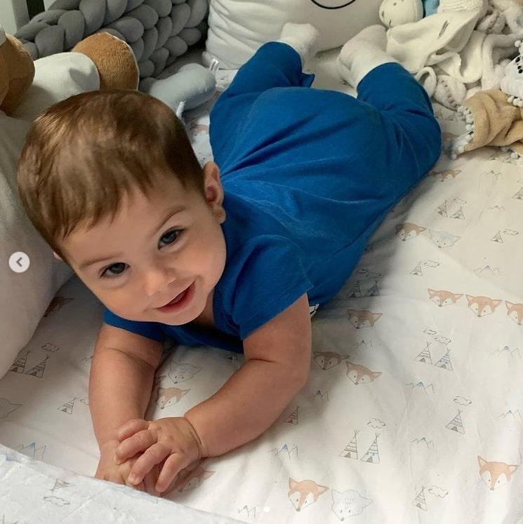 O filho da atriz Sthefany Brito, o pequeno Antônio Enrico