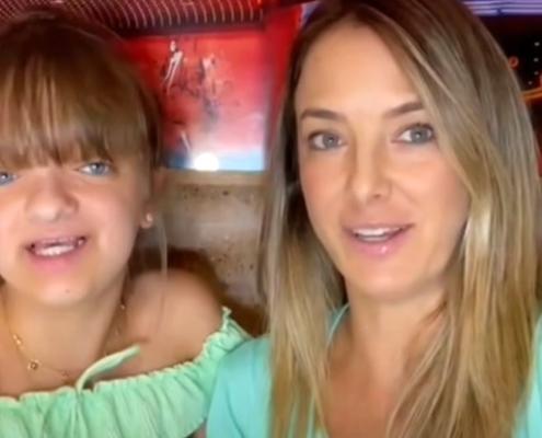 Ticiane Pinheiro mostrou sua filha modelando