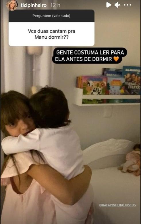 Ticiane Pinheiro mostrou suas filhas no quarto e encantou