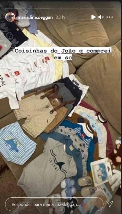 Alguns itens do enxoval do bebê de Whindersson Nunes