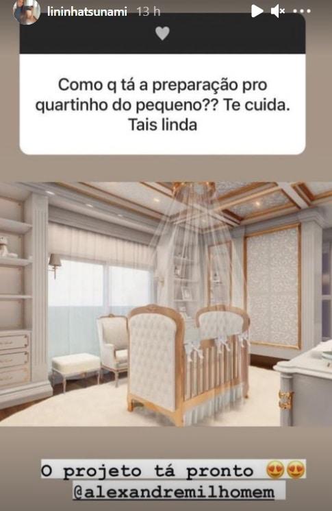 Projeto do quarto de bebê do filho de Whindersson Nunes