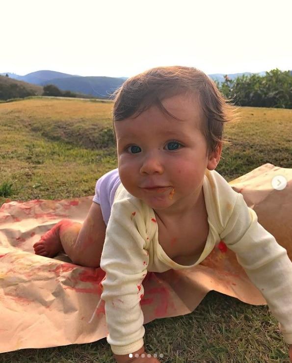 O pequeno Zyan que é filho de Giovanna Ewbank