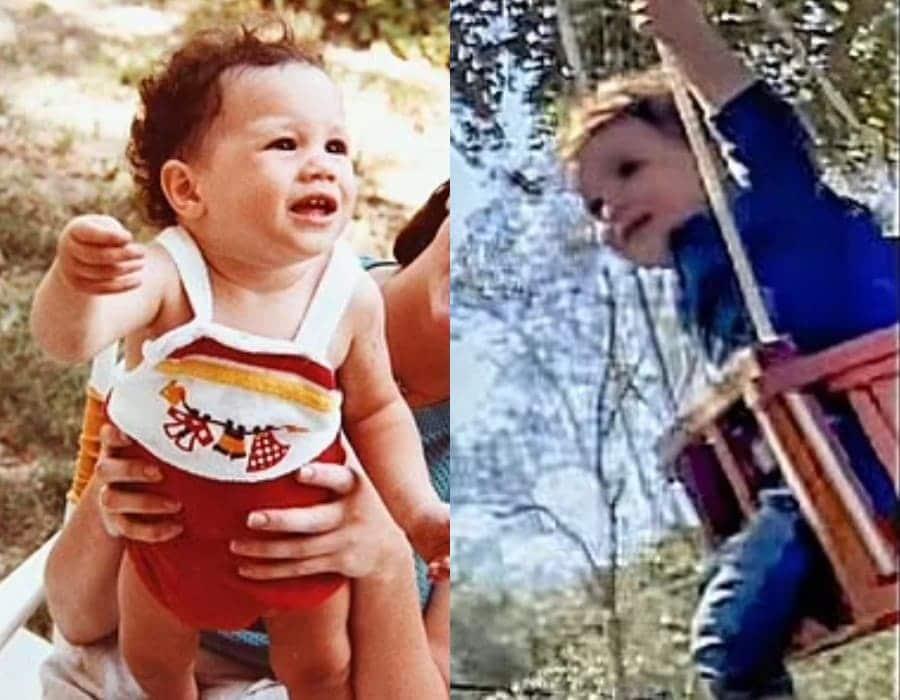 A duquesa Meghan Markle ainda bebê e o seu filho Archie