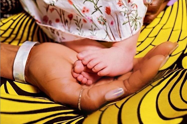 Naomi Campbell e a filha recém-nascida