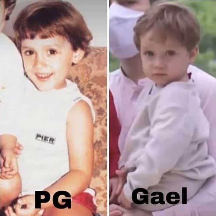 Paulo Gustavo pequeno e o filho Gael