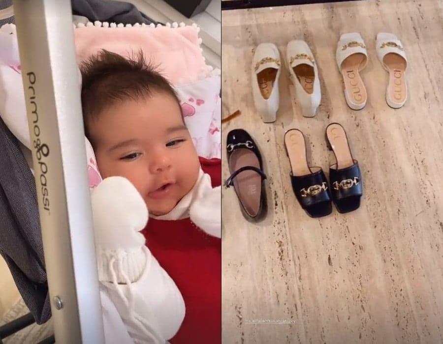 A filha de Simone e os luxuosos sapatos da cantora