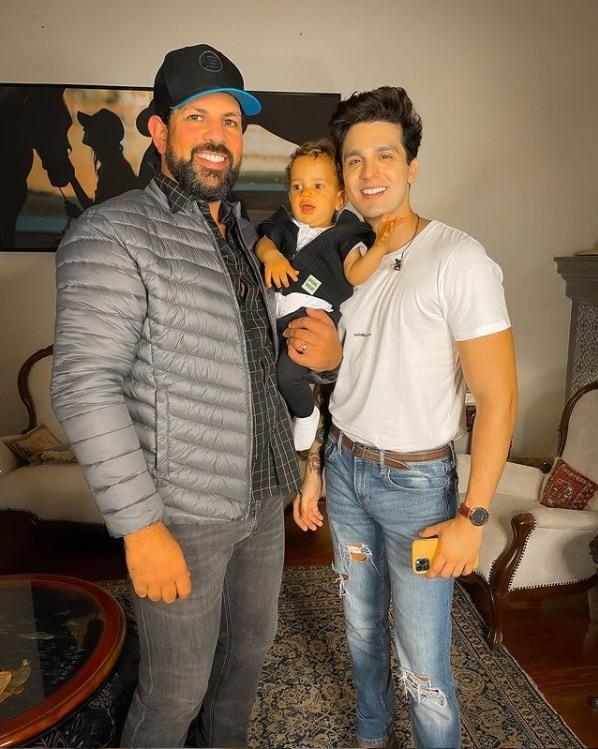 Sorocaba junto com o filho e Luan Santana
