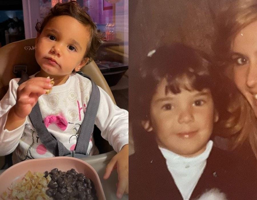 Ticiane Pinheiro comparou foto da filha com a sua