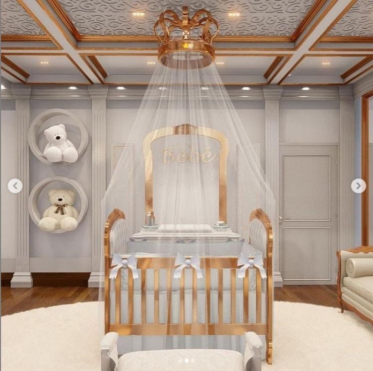 Mais detalhes do projeto do quarto do bebê de Whindersson Nunes