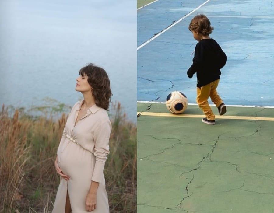 Junior Lima fez este ensaio gestante de Monica e o filho deles