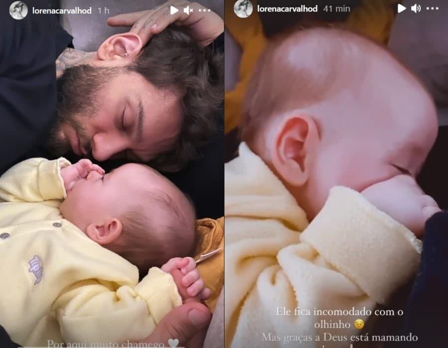 Lucas Lucco e o seu bebê Luca
