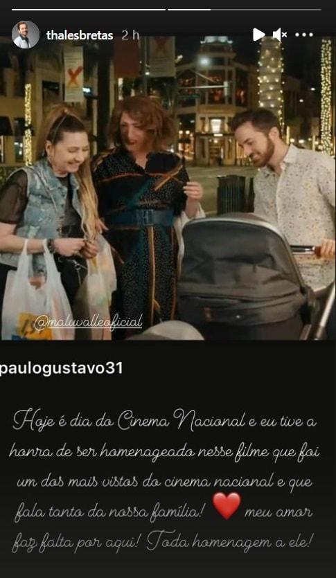 Paulo Gustavo junto com os filhos e o marido Thales Bretas