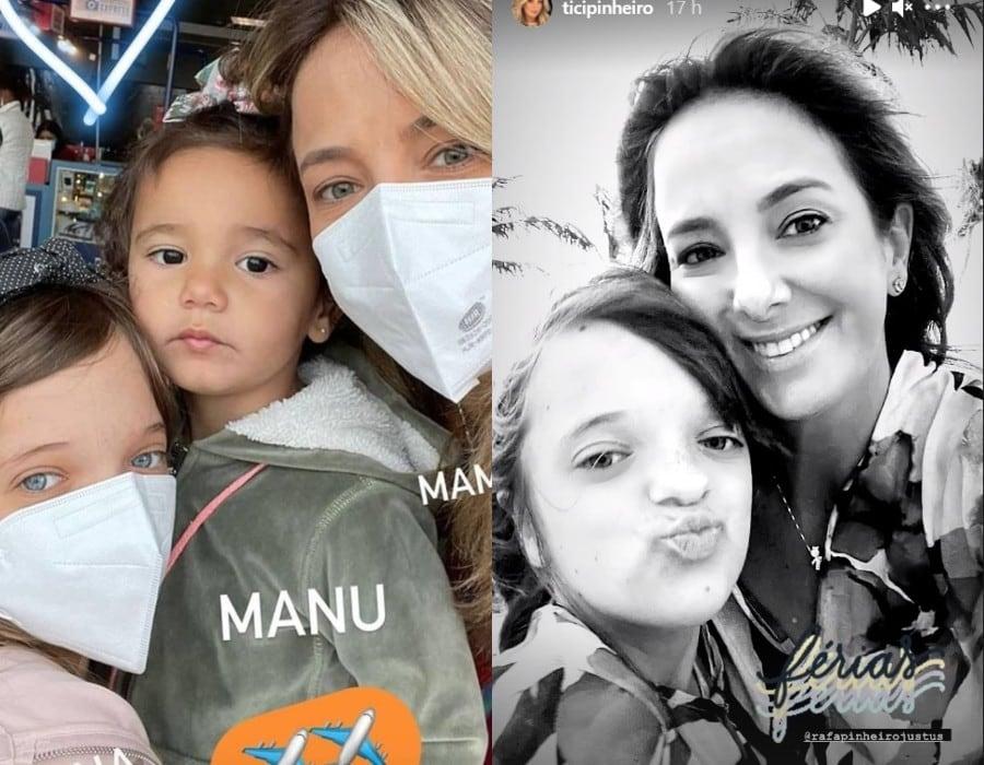 Rafaella Justus com Ticiane Pinheiro e Manuella de férias
