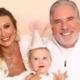 Roberto Justus comemorou o aniversário de um ano de sua bebê