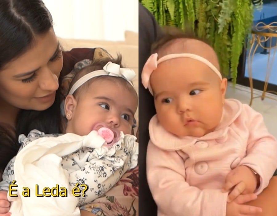 Simone junto com a sua bebê Zaya