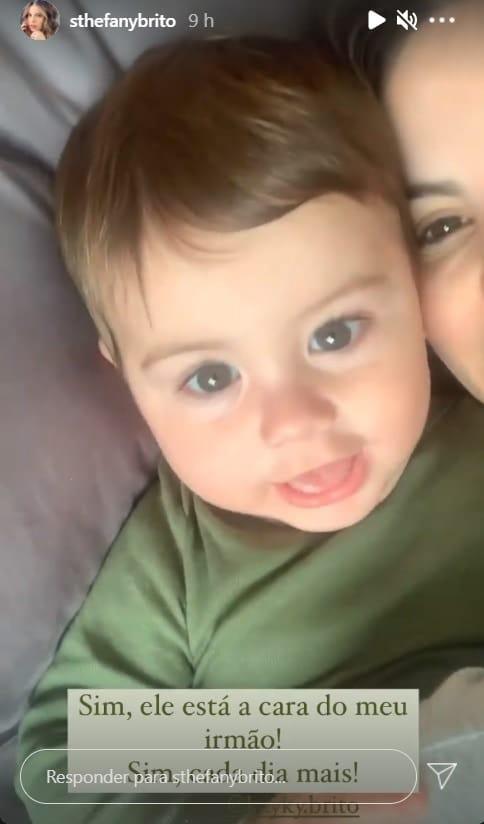 O bebê Antônio Enrico, filho da atriz Sthefany Brito