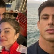 Caio Castro fez rara aparição com a filha de Grazi Massafera e Cauã Reymond