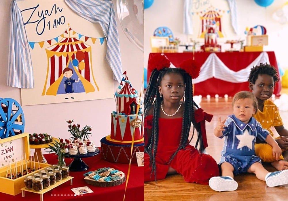 Giovanna Ewbank mostrando o aniversário de seu filho Zyan