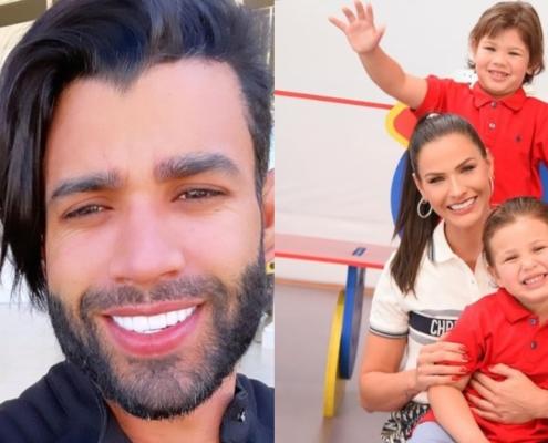 Gusttavo Lima viajou sem Andressa Suita e os dois filhos