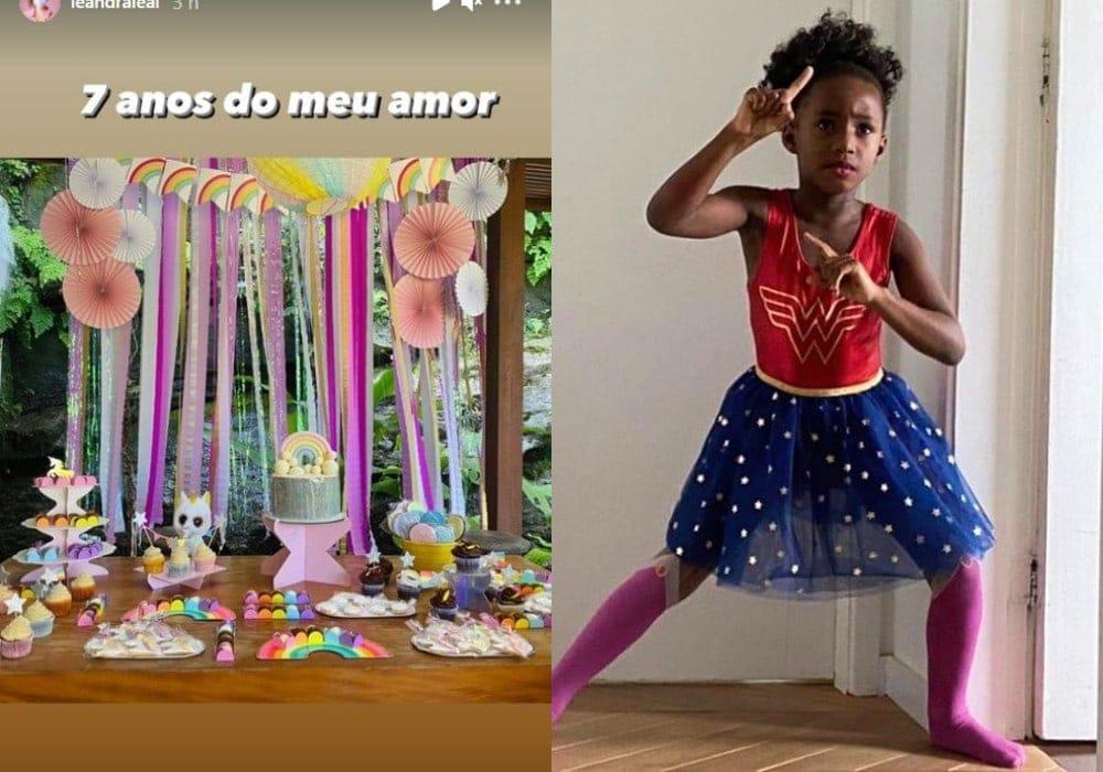 Leandra Leal fez linda festa de aniversário pra menina Júlia