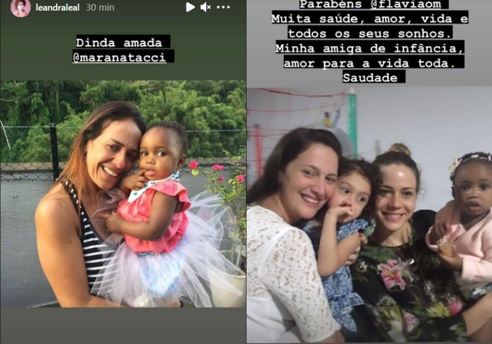 Leandra Leal recordando sua filha quando era bebê