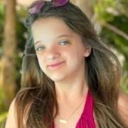 Rafaella Justus está completando doze anos