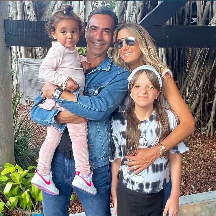 Ticiane Pinheiro nas férias com a sua família