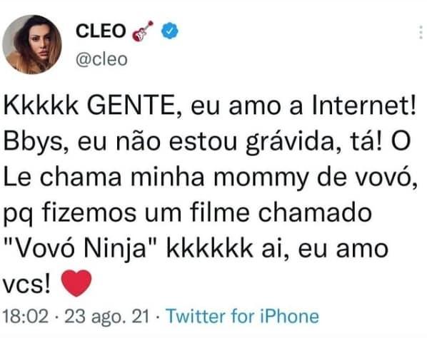 Cleo Pires desmentiu os boatos da gravidez