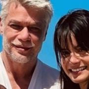Fábio Assunção mostrou sua filha conhecendo o mar