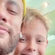 Neymar comemorou o aniversário do pequeno Davi Lucca