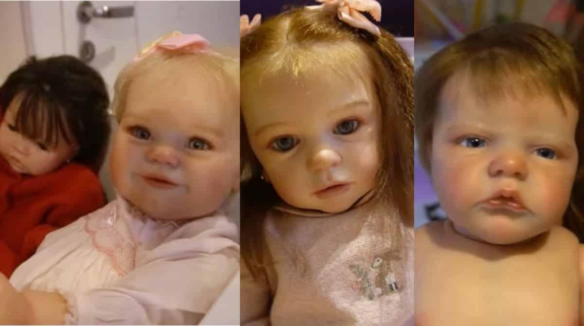 Algumas das bonecas reborn de Rafaella Justus