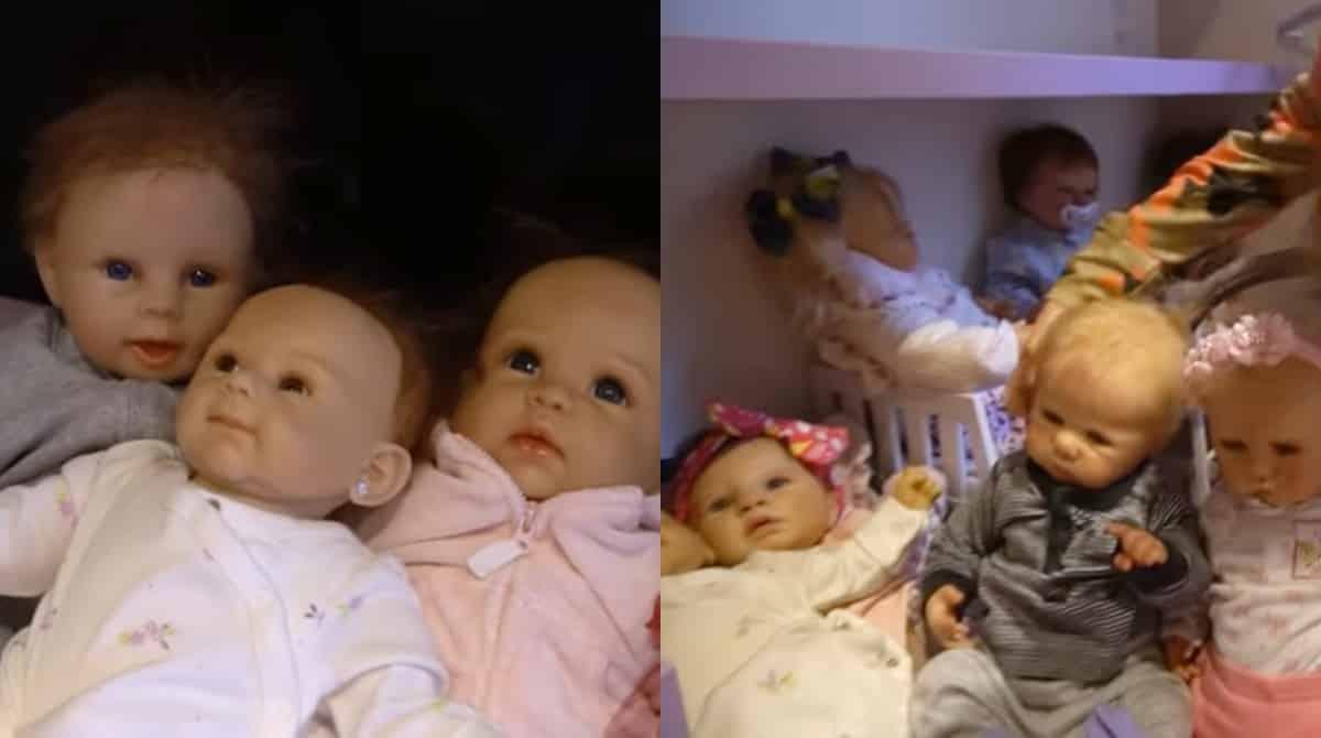 Algumas das bonecas reborn da menina Rafaella Justus