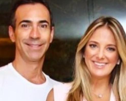 César Tralli posou com sua filha com Ticiane Pinheiro