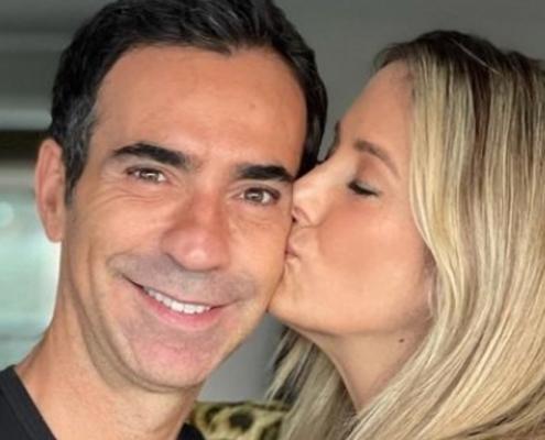 César Tralli e Ticiane Pinheiro apareceram com Manuella