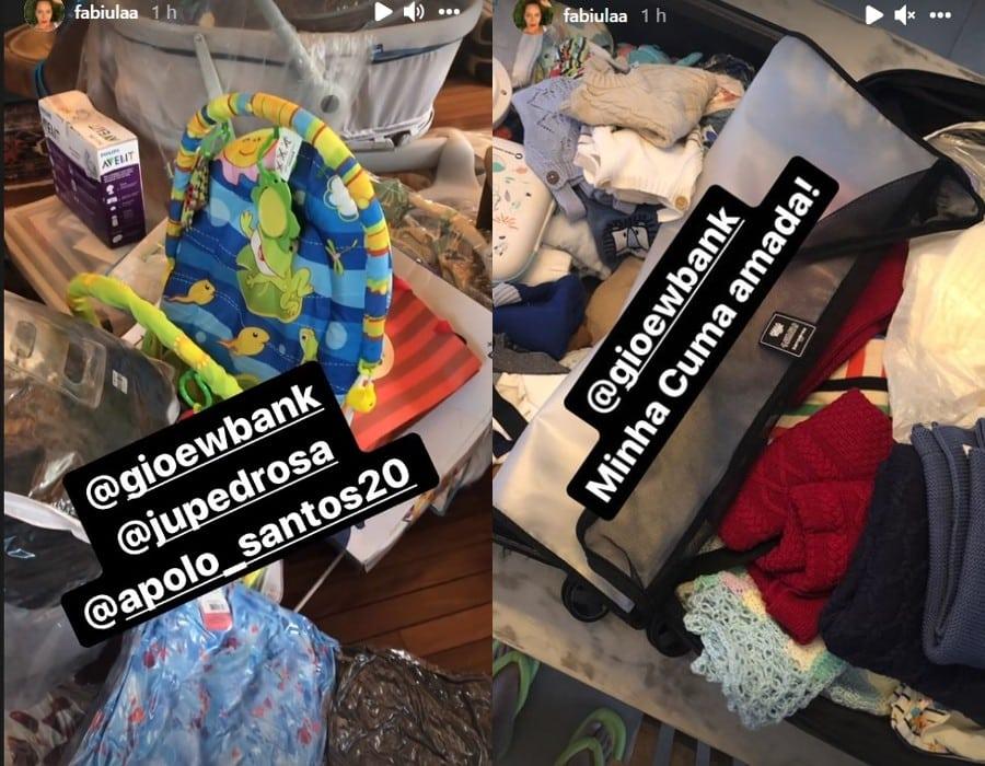 Enxoval do bebê de Giovanna Ewbank que será dos gêmeos de Emílio Dantas