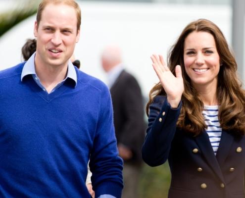 A duquesa Kate Middleton e o príncipe William apareceram com os filhos