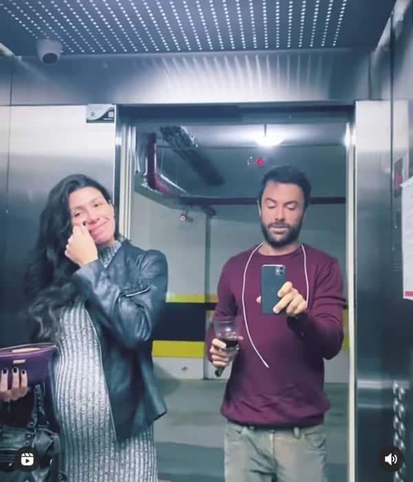 Kayky Brito e Tamara Dalcanale antes do ultrassom do bebê