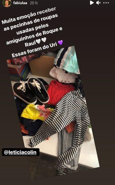 Letícia Colin deu este presente pros bebês de Emílio Dantas