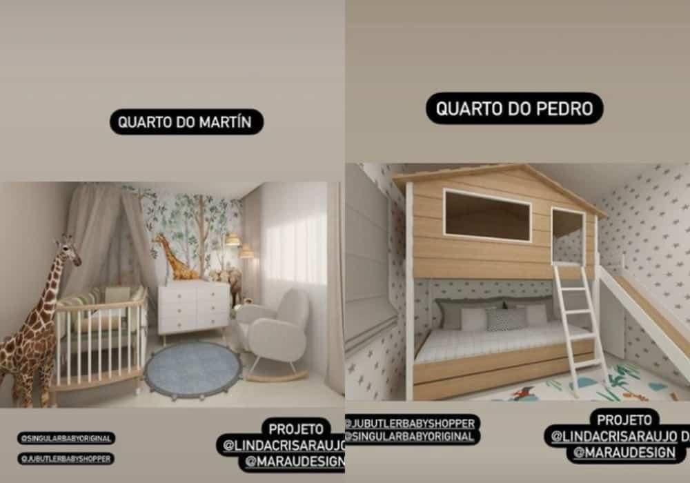 Projetos dos quartos dos filhos de Maria Cecília e Rodolfo