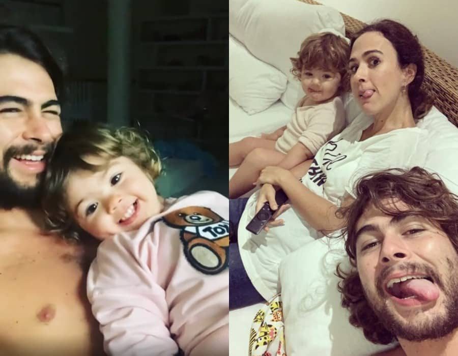 Rafael Vitti junto com Tatá Werneck e Clara Maria